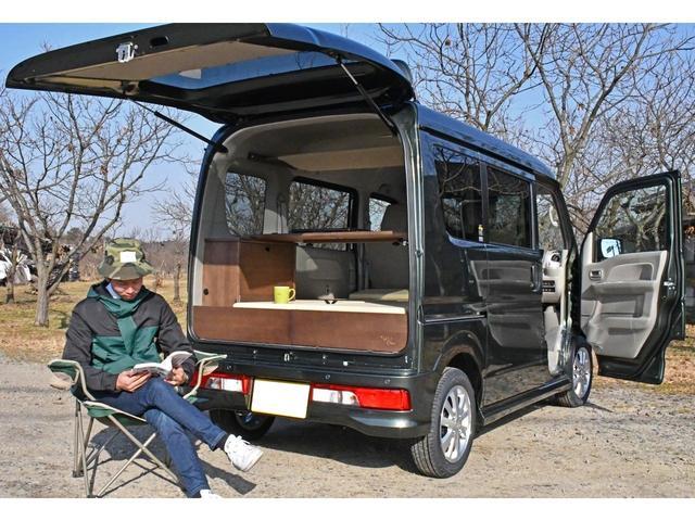 軽キャンバーちょいCan仕様 車中泊や一人キャンプなどアウトドアに最適です