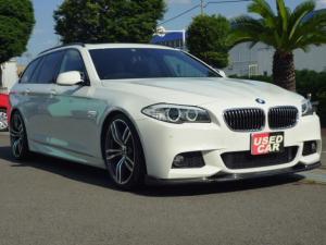BMW 5シリーズ 523iツーリング Mスポーツパッケージ 20インチAWセット新品 フロントカーボン調スポイラー新品 ローダウンKIT新品 リアカーボン調ディヒューザー パノラマガラスルーフ アルカンターラスポーツシート 3D・Desing4本出しマフラー