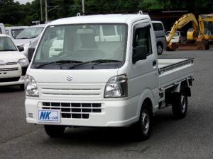 スズキ キャリイトラック KCエアコン・パワステ 5速MT デュアルエアバッグ ABS ヘッドライトレベライザー スペアキー付
