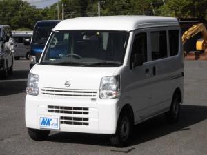 日産 NV100クリッパーバン DX エマージェンシーブレーキパッケージ 4WD 衝突軽減ブレーキ AUX付ナビ Bluetoot接続 DVD再生 ETC キーレス レンタカーアップ車