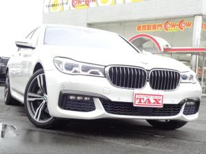 BMW 7シリーズ 740i Mスポーツ ワンオーナー 純正ナビ 全方位カメラ サンルーフ インテリジェントセーフティ レーダークルーズ クリアランスソナー Aストップ 本革シート シートヒーター 電動リアサンシェード 電動チルトステアリング