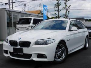 BMW 5シリーズ 528iツーリング Mスポーツパッケージ 純正HDDナビ フルセグ バックカメラ クルコン ソナー 本革パワーシート シートヒーター ミラー型ETC 純正アルミ 2000ターボ パワーバックドア