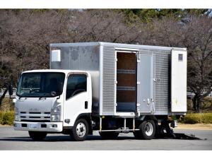 いすゞ エルフトラック  2t ワイドロング アルミバン サイドドア付 PG 格納パワーゲート フルゲートリフター