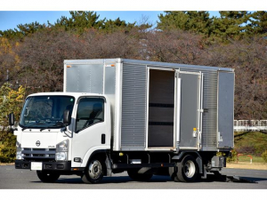 日産 アトラストラック  標準ロング 格納式パワーゲート PG アルミバン サイドドア付 最大積載量2950kg 6速マニュアル