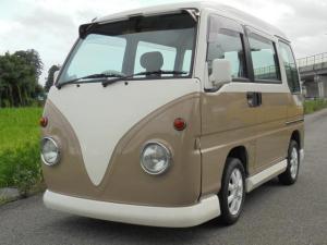 スバル サンバーディアス ディアス-S 5速MT エアコン パワステ 社外バンパー 社外AW ツートン オールペン バス仕様 フロントバイザー