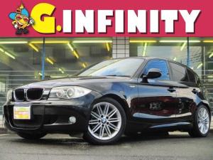BMW 1シリーズ 116i Mスポーツパッケージ 保証書&取説完備/修復歴無/後期型/M専用エアロ&17AW&ハーフレザーシート/社外HDDナビ/バックカメラ/フルセグ/DVD/Mサーバー/HID/ETC/革ステア/MTモード/PVガラス/Tチェーン