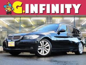 BMW 3シリーズ 325iツーリング ハイラインパッケージ 保証書&取説完備/修復歴無/検・2年付/外HDDナビ/Bカメラ/フルセグ/DVD/Mサバ/後席モニター/本革電動シート・ヒーター/純17AW/HID/ETC/革ステ/MTモード/PVガラス/Tチェーン