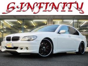 BMW 7シリーズ 750i 保証書&取説完備/修復歴無/記録簿/後期/SR/ACシュニッツァーエアロ/ASANTI22AW/ローダウン/革電シート・クーラー&ヒーター/純ナビ/Bカメ/フルセグ/DVD/HID/ETC/Tチェーン