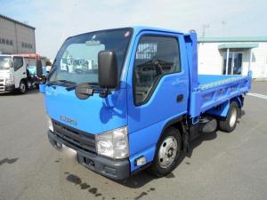 いすゞ エルフトラック  2t 新明和製(DR2-0110SY) 土砂ダンプ 全低床 強化 L3050 W1600 H320 手動式シート付 荷台部仕上げ済