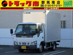 いすゞ エルフトラック 2t積・アルミバン10尺・ラッシングレール1段