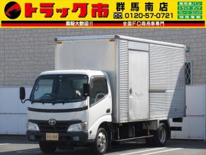 トヨタ ダイナトラック 2t積・アルミバン・標準ロング・5MT 車両総重量5065kg・左サイドドア・ETC・バックモニター・集中ドアロック・左電格ミラー・排ガス浄化装置・NOxPM適合・車内クリーニング済