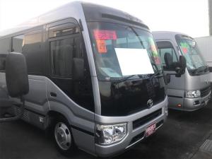 トヨタ コースター GX バス AC AT 修復歴無 ナビ バックカメラ オーディオ付 ETC シルバー