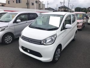 三菱 eKワゴン E ナビ 軽自動車 ホワイト CVT AC 修復歴無