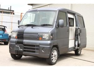 三菱 ミニキャブバン CD 移動販売車 キッチンカー 荷室スペース新品部品作成 オートマ 小窓付き