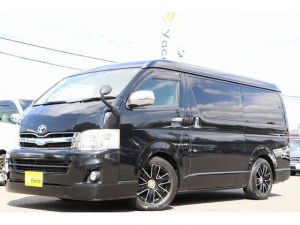 トヨタ ハイエースワゴン  アネックス製ファミリーワゴン ナビ Bカメラ ETC フリップダウンモニター オートスライド ツインサブ 走行充電 外部充電・電源 インバーター 冷蔵庫 ナビ起動切り替えスイッチ FFヒーター