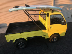 スバル サンバートラック リフトアップ ラリータイヤ ワンオフトラックラック 内装張替
