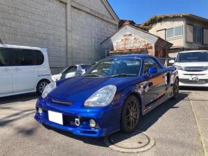 トヨタ MR-S Sエディション ボルクレーシングアルミ テイン車高調 ストラットバー 社外エキマニ 柿本マフラー オプションハードトップ 社外ハンドル 社外GTウィング