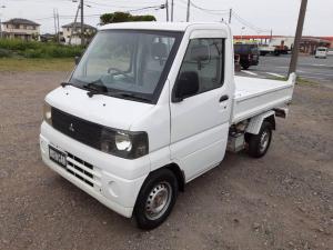 三菱 ミニキャブトラック ダンプ 4WD 5速MT 軽トラック 2名乗り ホワイト
