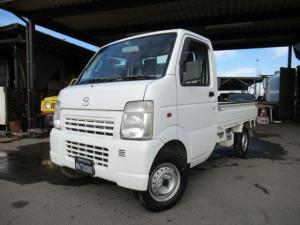 マツダ スクラムトラック KCスペシャル オートマ 4WD パワステ エアコン エアバッグ ワンオーナー三方開 修復なし