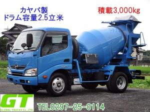 日野 デュトロ 積載3t カヤバ製 2.5立米 ミキサー 水タンク