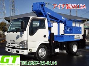 いすゞ エルフトラック  アイチ 12m 高所作業車 SB12A