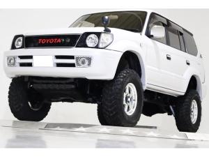 トヨタ ランドクルーザープラド TX 4WD リフトUP 丸目仕様 背面タイヤカバー HID