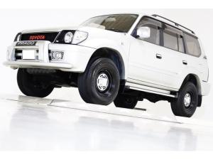 トヨタ ランドクルーザープラド TXリミテッド 4WD 丸目仕様 ヴィンテージグリル ヴィンテージ16インチアルミホイール LEDイカリングヘッドライト ブラックレザー調シートカバー LEDクリスタルコンビテール サンルーフ 3列目シート 8人乗り