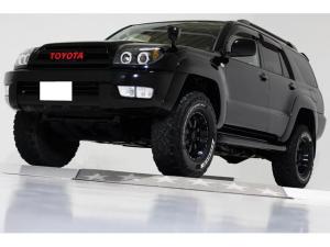 トヨタ ハイラックスサーフ SSR-X 4WD リフトアップ ブラックレザー調シートカバー MKW16インチアルミホイール インナーブラックLEDイカリングヘッドライト 社外マフラー コンビステアリング ナビ TV バックカメラ ETC