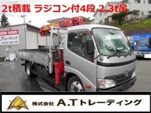 トヨタ トヨエース  2t積載 フルカワ4段クレーン 2.3t吊 車両総重量5685キログラム 中型免許対応