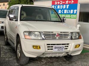 三菱 パジェロ ロング スーパーエクシード 4WDアルミHDD ナビETC