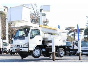 いすゞ エルフトラック  タダノ高所作業車 AT146 電工仕様 自動格納 バケット昇降 作業床高14.6m 車両総重量7585kg サブブーム 左電各ミラー HSA DPD