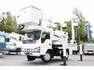 いすゞ エルフトラック  アイチ高所作業車 SH15B 14.6m 電工仕様 自動格納 バケット昇降 積載500kg  車両総重量7865kg 左電各ミラー DPD HSA ASR ヘッドライトレベライザー