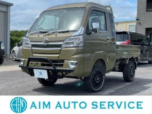 ダイハツ ハイゼットトラック ジャンボSAIIIt 4WD/40mmリフトアップ/XTREME-J14インチAW/マッドタイヤ/ブッシュガードバー/衝突軽減ブレーキ/オートマ