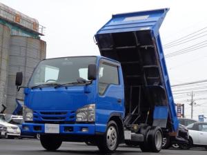 いすゞ エルフトラック 強化フルフラットローダンプ 低床強化ダンプ 5速MT 3ペダル 積載2トン