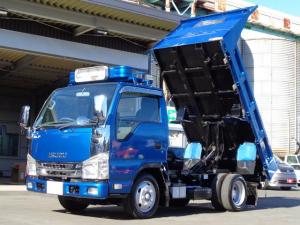 いすゞ エルフトラック 強化フルフラットローダンプ 極東開発 積載2トン 外装仕上済