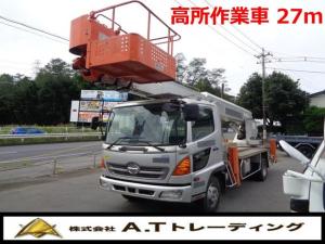 日野 レンジャー  高所作業車 タダノ製AT-270TG AT車 ETC 車両総重量7910KG 中型免許対応 排気量4720CC 燃料 軽油
