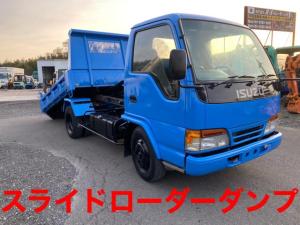 いすゞ エルフトラック  スライドローダーダンプ 3トン 123,869km 5速マニュアル 修復歴無し ディーゼル
