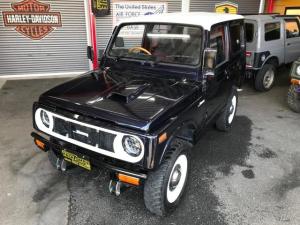 スズキ ジムニー ワイルドウインドリミテッド 4WD オートマ ディッシュホイール ミラー 内張り 2トーンカラー オーディオシートカバー 純正マフラー グリル