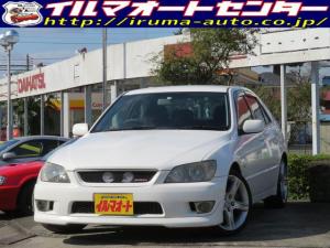 トヨタ アルテッツァ AS200 Zエディション 後期型/6速MT/ローダウン/ダウンサス付/社外マフラー/HIDヘッドライト/純正アルミ付/エアロパーツ付/タイミングベルト交換済/