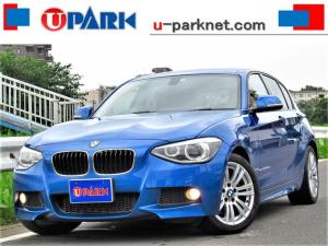 BMW 1シリーズ 120i Mスポーツ NEWiDriveナビ・DVD再生・MSV・AUX・USB・パワーシート・シートメモリー・ETC・本革巻ステアリング・オートライト・スマートキー・HIDライト・17AW・アイドリングSTOP