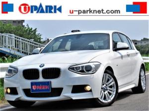 BMW 1シリーズ 116i Mスポーツ NEWiDriveナビ・BTオーディオ・Bカメラ・USB・AUX・DVD再生・MSV・17AW・アイドリングSTOP・オートライト・本革巻ステアリング・オートワイパー・ETC・コーナーセンサー