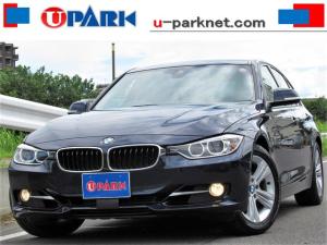 BMW 3シリーズ 320i スポーツ /ワンオーナー/黒革/ACC/インテリS/パドルシフト/NEWiDriveナビ/Bカメラ/BTオーディオ/DTV/DVD/MSV/ETC/スマートキー/アイドリングSTOP/ヒーター付Pシート/記録簿