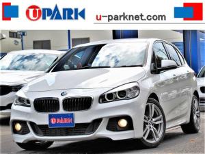BMW 2シリーズ 218iアクティブツアラー Mスポーツ インテリS・NewiDriveナビ・Bカメラ・DVD・MSV・BTオーディオ・AUX・USB・LED・Cソナー・OP18AW・アイドルストップ・ETC・キーレス・レーンキープ・プリクラッシュ