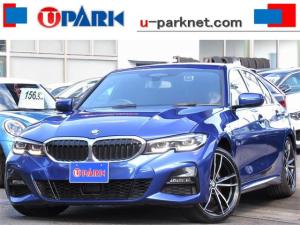 BMW 3シリーズ 320i Mスポーツ デビューpkg・ヴァーネスカレザー・ブルーステッチ・BMWライブコックピット・HUD・BSM・19アロイホイール・ACC・LKA・BSM・NewiDriveナビ・Bカメラ・LEDライト・記録簿