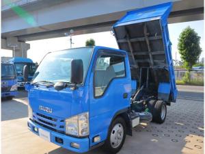 いすゞ エルフトラック 強化ダンプ フルフラットロー 積載2t
