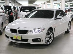 BMW 4シリーズ 420iグランクーペ Mスポーツ インテリジェントセーフティ アクティブクルーズコントロール パワーバックドア パーキングセンサー パワーシート iDriveナビ バックカメラ Bluetooth DVD ETC 純正18AW 禁煙車