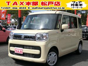 スズキ スペーシア HV X届出済未使用車/新品ナビ/両側電動PS/軽減ブレーキ