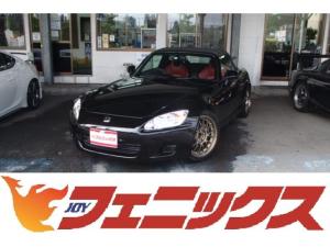 ホンダ S2000 ベースグレード VOLKレーシングTE37鍛造17AW!車高調KIT!OP赤皮シート!ダブルCCFLヘッドライト!HID!MOMOシフトノブ!トランクカーボンシート!6速マニュアル!MAX250馬P 燃P12.0KM