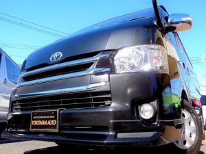 トヨタ ハイエースバン ロングワイドスーパーGL 4型3.0DT1オーナー禁煙車ナビTVバックカメラスマートキーエアログリルLEDライト黒木目インテリア