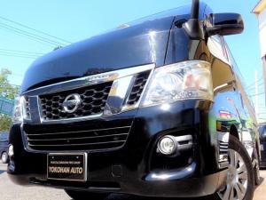 日産 NV350キャラバンバン ロングプレミアムGXターボ ユーザー買取車SDフルセグバックカメラLEDライト黒革調シートインテリキー